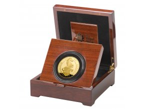 The Queen's Beasts The White Horse of Hanover 2020 UK Five Ounce Gold Proof Coin in case left UK20QHG5