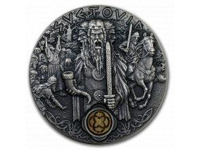 Investiční stříbrná mince Slovanští bohové- Svetovid 2 Oz