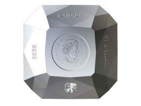 Stříbrná mince ve tvaru diamantu s diamantem 2020