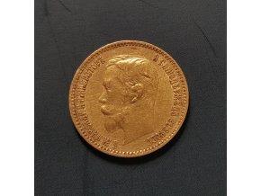 Zlatý 5 rubl Mikuláč II. 1900 FZ