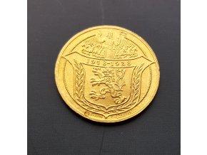 Zlatý 2 dukát Jsem ražen z českého kovu 1928