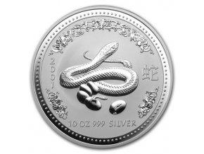 Investiční stříbrná mince rok hada 2001 10 Oz