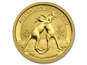 Investiční zlatá mince australský klokan (nugget) 2010 1/10 Oz