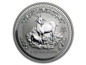 Investiční stříbrná mince rok kozy 2003 2 Oz
