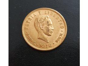 Zlaté 5 peso 1916-Kuba