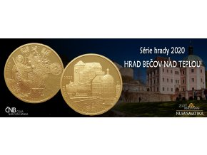 Zlatá mince hrad Bečov 2020-1/2 Oz proof