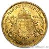 Zlatá mince Dvacetikoruna Františka Josefa I. uherská ražba ročníková 1901