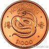 Zlatá mince rok Hada 1977-lunární série Honkong 1/2 Oz