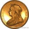 4373 zlata mince britska petilibra victoria 1893