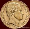 Zlatá mince belgický dvacetifrank- král Leopold I.