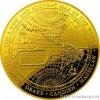 Zlatá mince Nová mapa světa 1626 proof 1 Oz 2018
