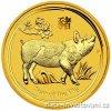 Investiční zlatá mince rok Vepře 2019 1/4 Oz