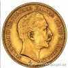 pruska 20 marZlatá mince pruská 20 marka-Wilhelm II.