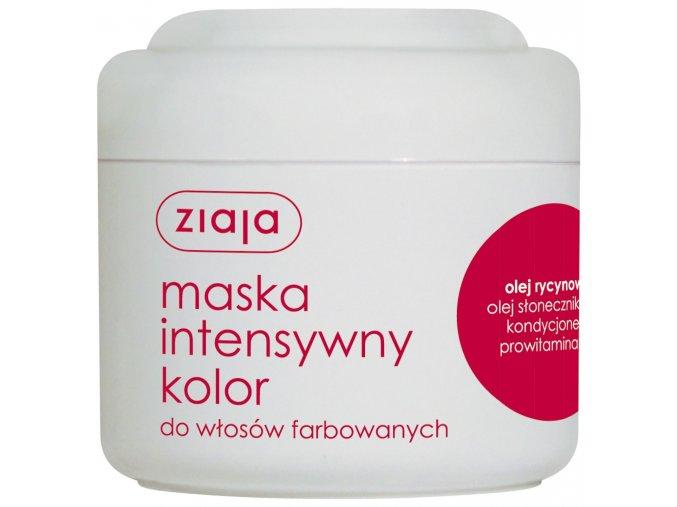 intenzivní barva  maska na vlasy s ricinovým olejem 200ml