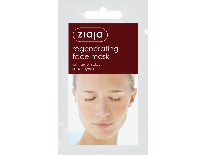 pleťová maska  regenerační s hnědým jílem 7ml