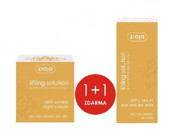 sada lifting solution  noční krém proti vráskám 50ml + sérum pod oči a okolí rtů 30ml