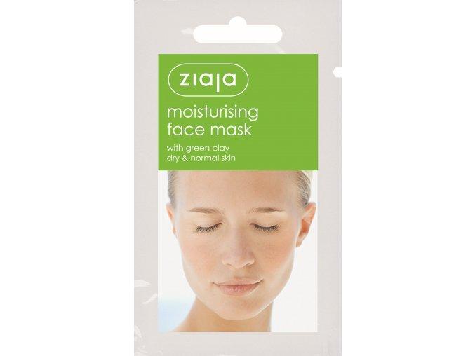 pleťová maska  hydratační se zeleným jílem 7ml