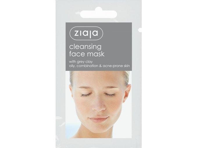 pleťová maska  čistící s šedým jílem 7ml