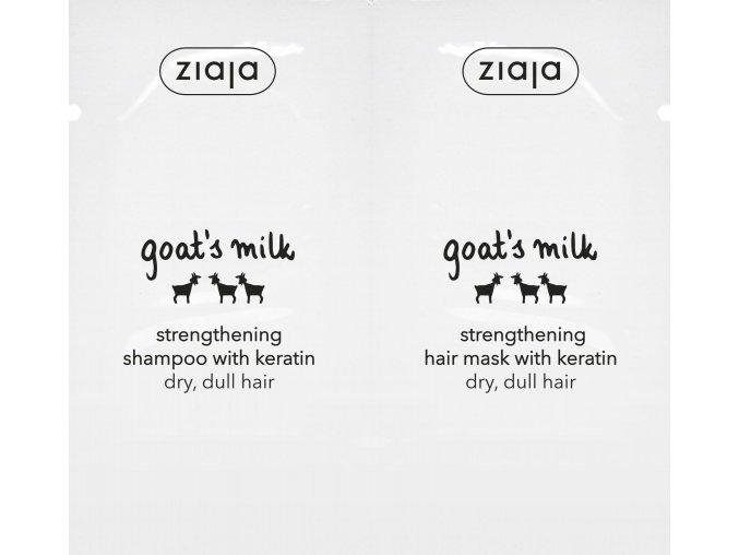 kozí mléko  šampon na vlasy & maska na vlasy duo sachet 2x7ml