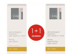 sada dermatologická kúra s vitamínem c  denní krém zpevňující 50ml + noční krém regenerační 50ml