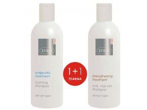 sada vlasová kúra  šampon proti vypadávání vlasů 300ml + šampon na vlasy zklidňující, proti svědění 300ml
