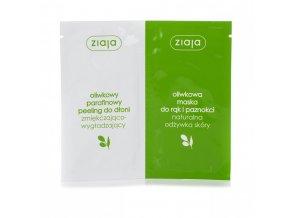 přírodní oliva  parafínový peeling + maska na ruce duo sachet 2x7ml