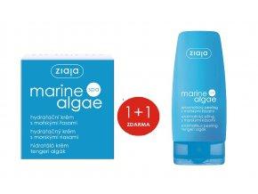 sada mořská řasa  pleťový krém hydratační 50ml + enzymatický peeling 60ml