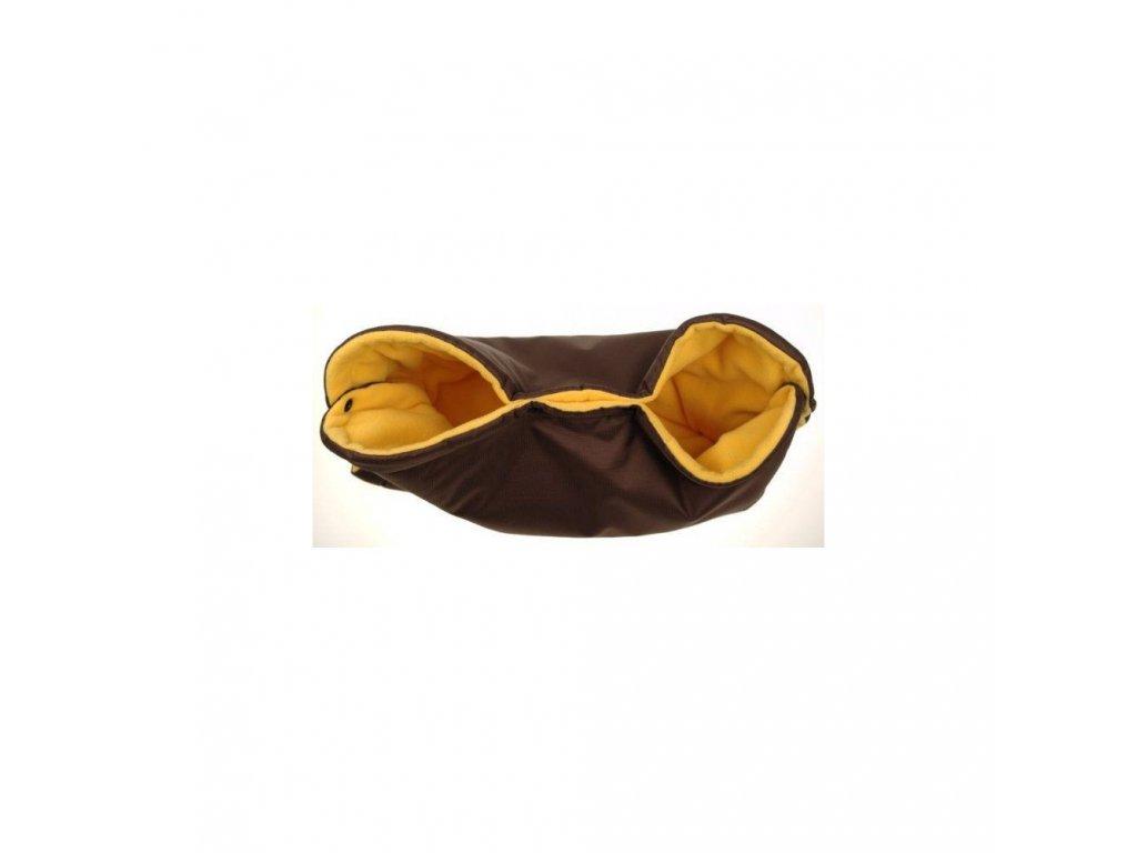 Kaarsgaren rukávník na kočárek hnědo žlutý