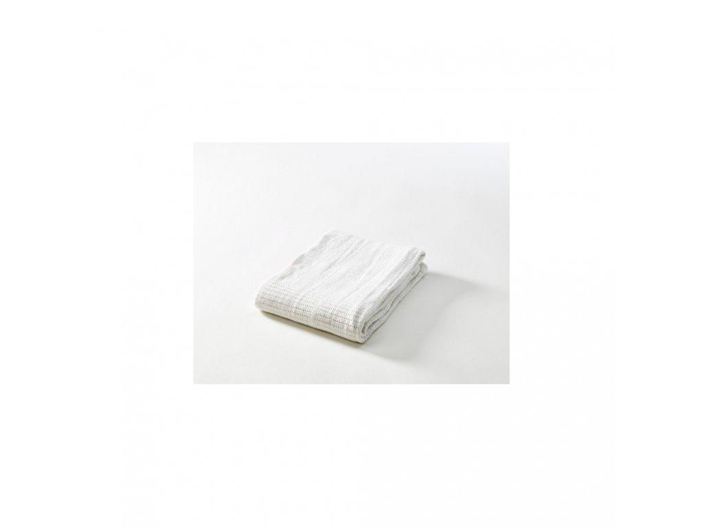 Háčkovaná deka New bílá