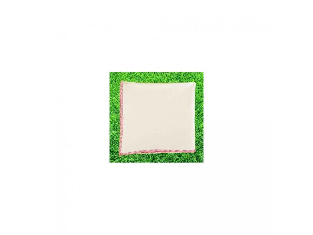 Letní deka z biobavlny růžový lem