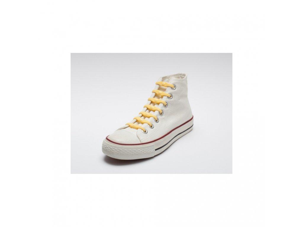 Shoeps Silikonové tkaničky Yellow Sunny