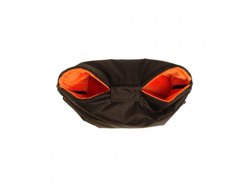 Rukávník na kočárek černo oranžový