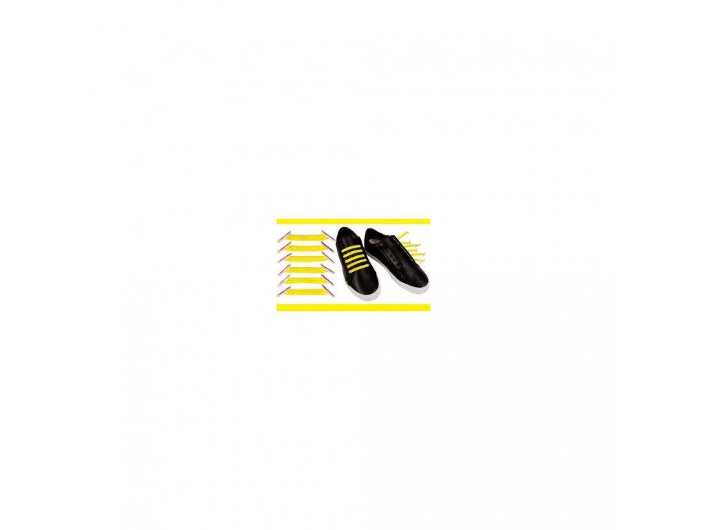 Zázračné tkaničky žlutá - pro jednu botu
