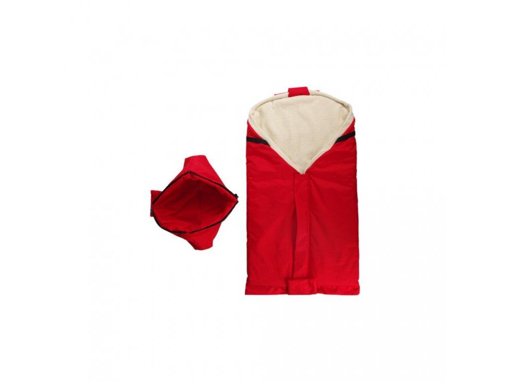 Kaarsgaren nový červený fusak s beránkem z biobavlny