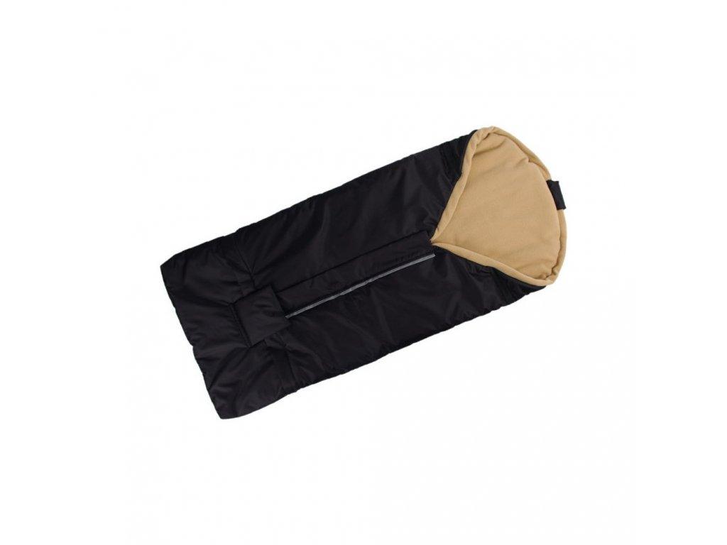 Kaarsgaren fusak černo béžový s fleece podšívkou