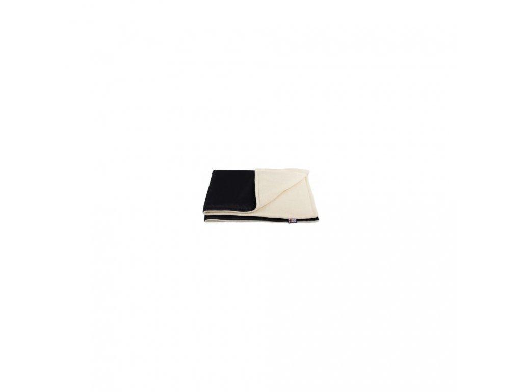 Kaarsgaren zimní deka biobavlna beránek černá