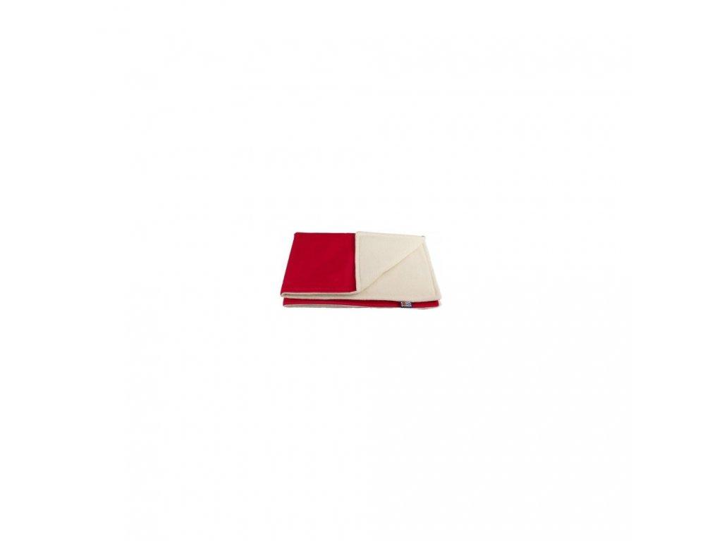 Kaarsgaren zimní deka biobavlna beránek červená
