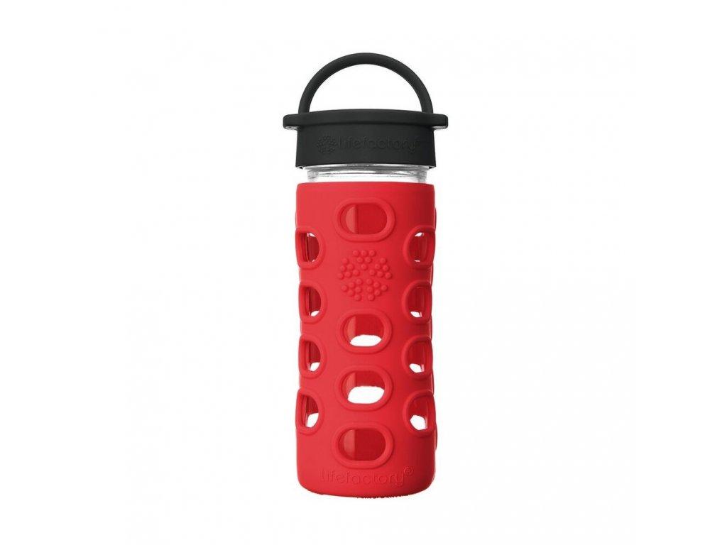Lifefactory láhev s klasickým uzávěrem 350 ml Apple Red