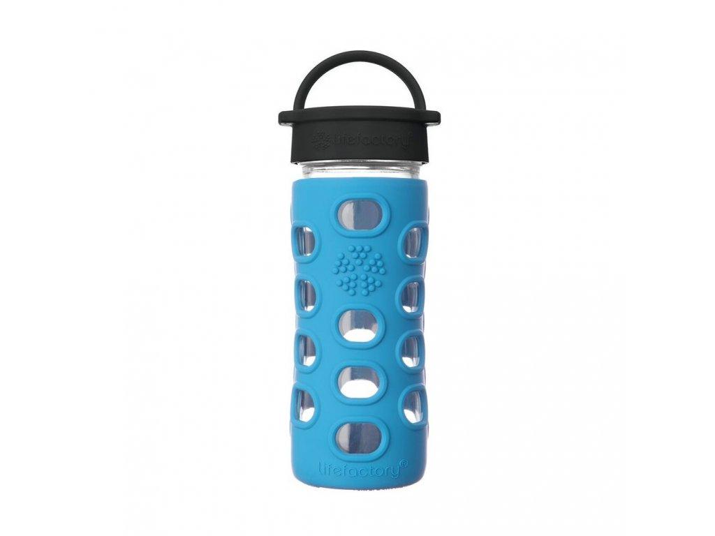 Lifefactory láhev s klasickým uzávěrem 350 ml Cobalt Blue