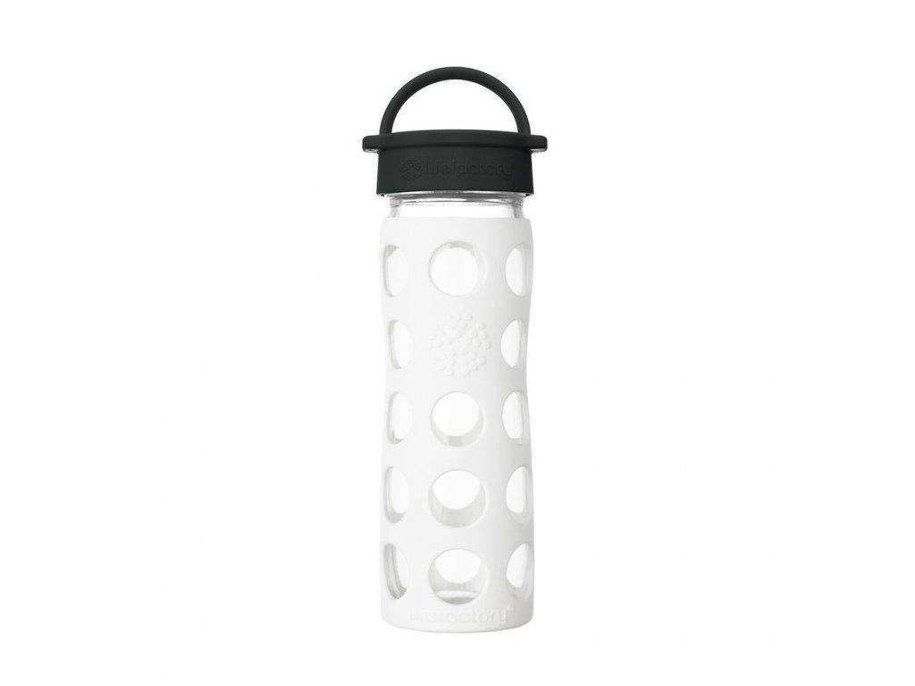 Lifefactory láhev s klasickým uzávěrem 475 ml Arctic White