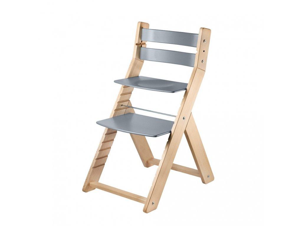 Woodpartner Rostoucí židle Sandy natur šedá
