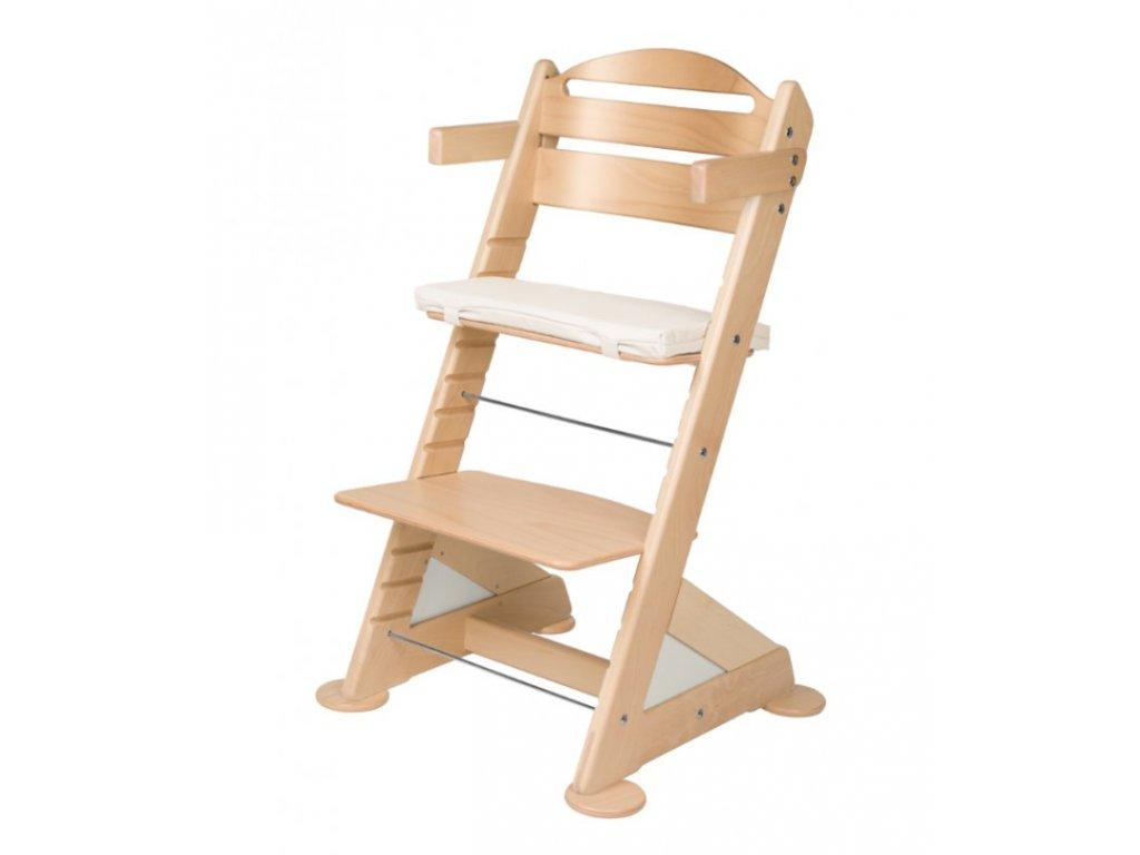 Jitro Komplet područky + stabilizační botičky k židlím Jitro Baby přírodní lak