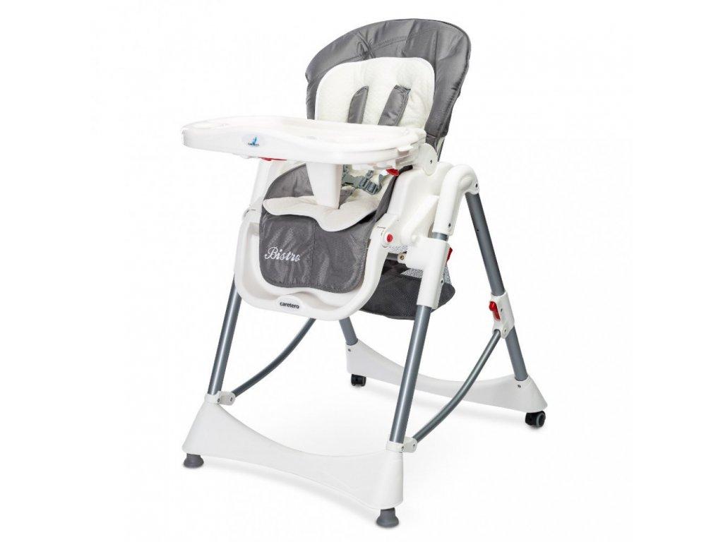 Caretero jídelní židlička Bistro 2019 Grey