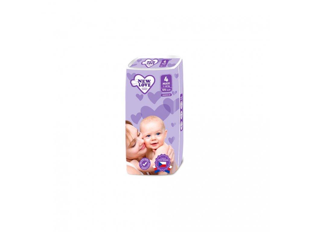 Dětské jednorázové pleny New Love 4 MAXI 7-18 kg 44 ks