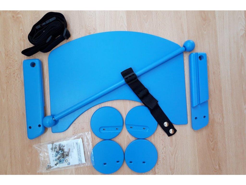 Komplet pultík + stabilizační botičky k židlím Jitro Baby světle modrý