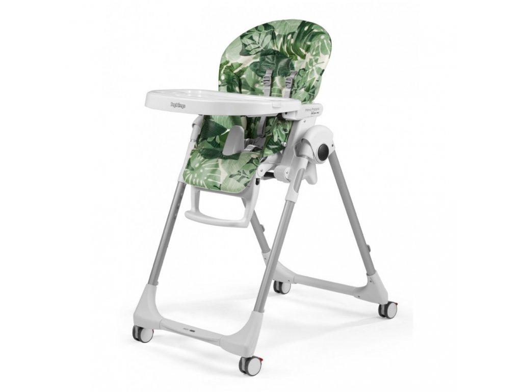 Peg Pérego jídelní židlička Prima Pappa Follow Me Foliage 2020