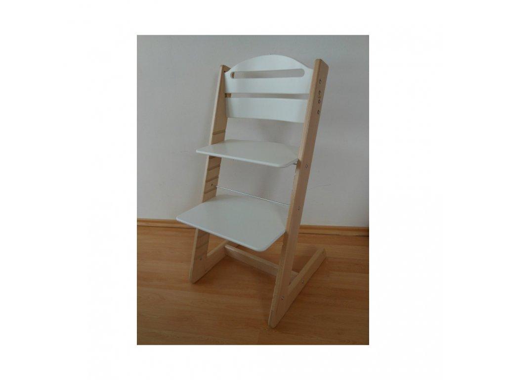 Rostoucí židle Jitro BABY bukovo-bílá