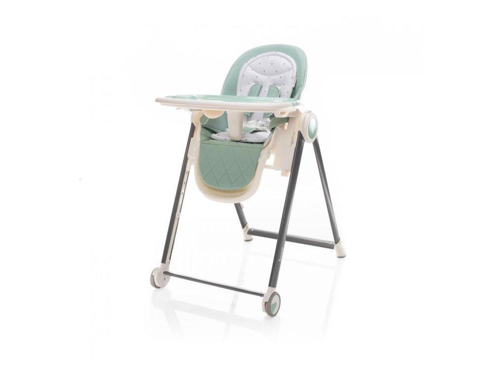 Zopa jídelní židlička Space Misty Green