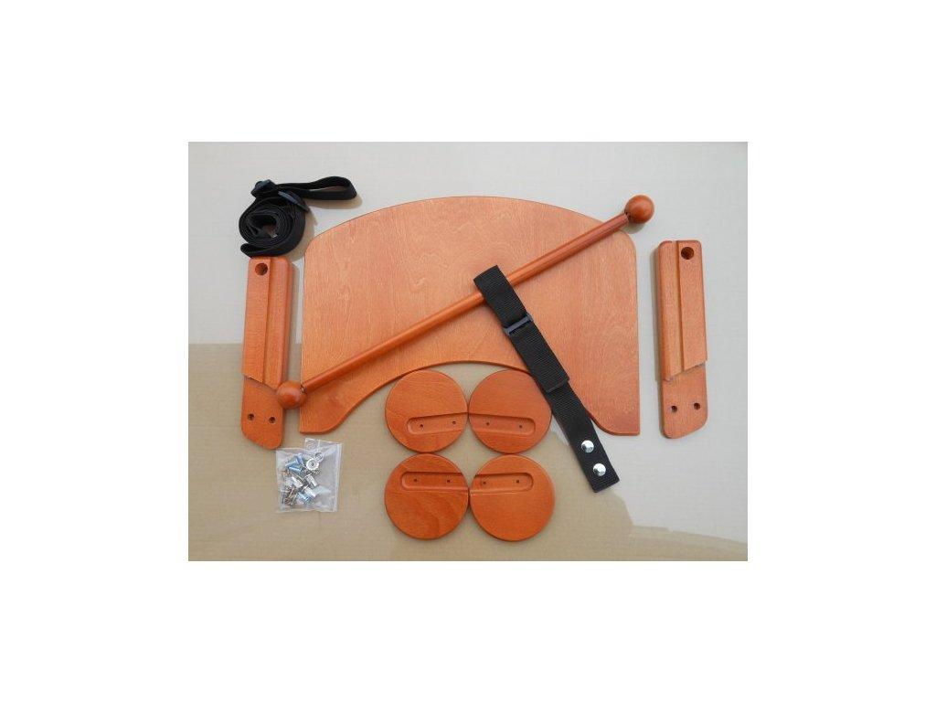 Komplet pultík + stabilizační botičky k židlím Jitro Baby třešeň