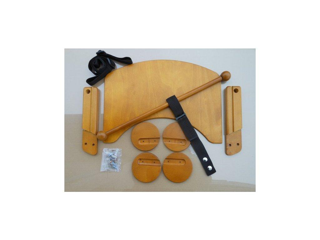 Komplet pultík + stabilizační botičky k židlím Jitro Baby dub